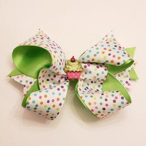 Other - 3x $20 Handmade Hair Cupcake Polka dots Bow